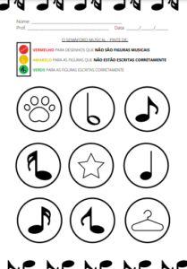 atividades de música pdf - figuras musicais - musicalização educação infantil