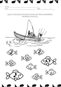 atividades de música pdf - figuras musicais - musicalização educação infantil PDF